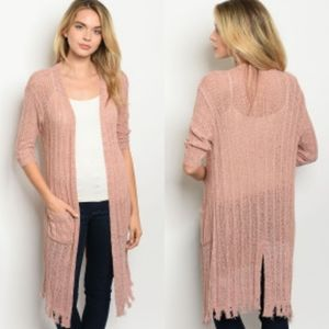 🆕️ Split Back Knit Cardigan Blush